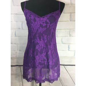 VS Sexy Purple Lace Camisole Feminine Romantic